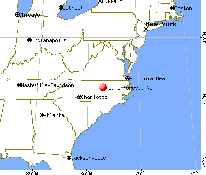 Wake Forest, North Carolina map