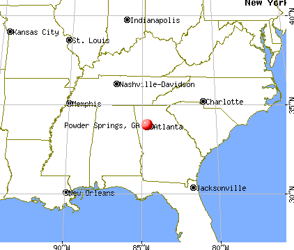 Powder Springs, Georgia map