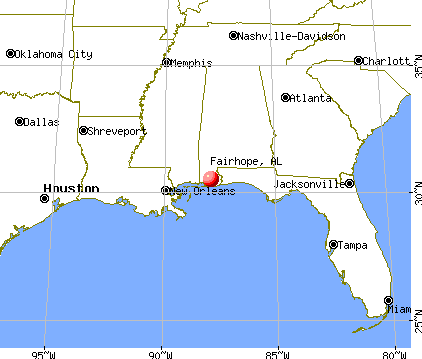 Fairhope, Alabama map