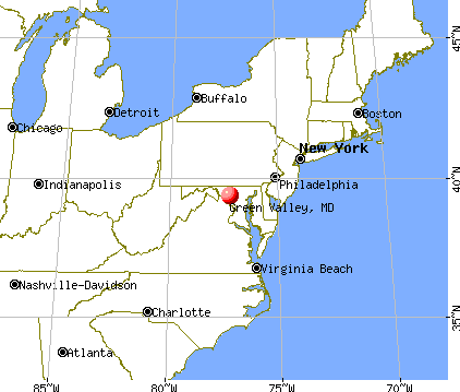Green Valley, Maryland map