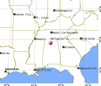 Hartselle, Alabama map