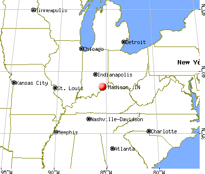 Madison, Indiana map