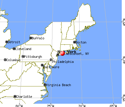 Nesconset, New York map