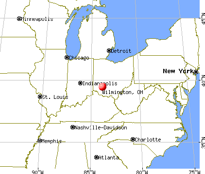 Wilmington, Ohio map