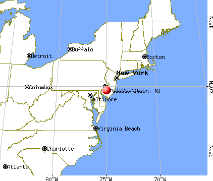 Williamstown, New Jersey map