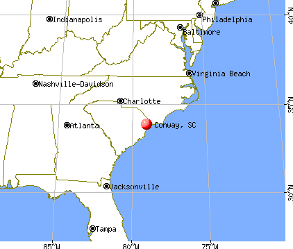 Conway, South Carolina map