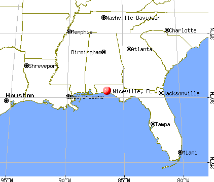 Niceville, Florida map
