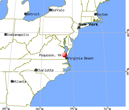 Poquoson, Virginia map