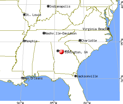 Covington, Georgia map
