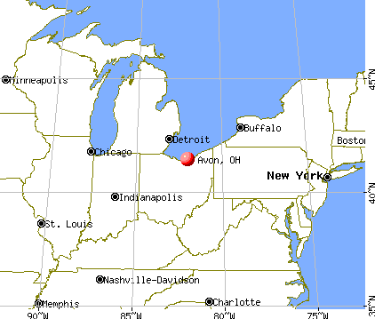 Avon, Ohio map