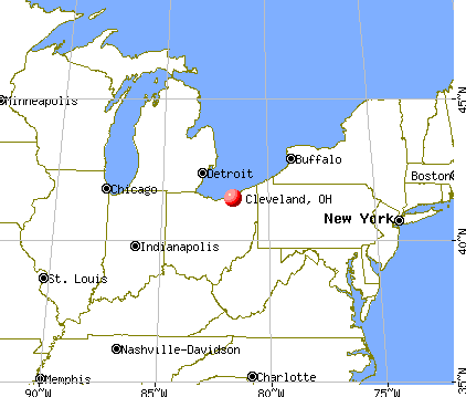 Cleveland, Ohio map