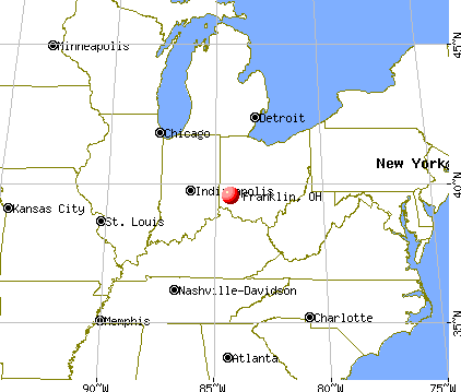 Franklin, Ohio map