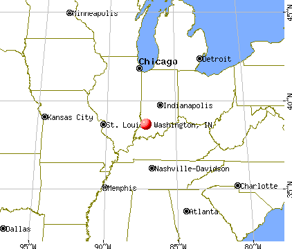 Washington, Indiana map