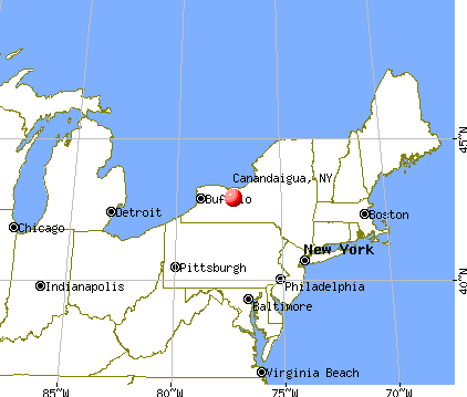 Canandaigua, New York map