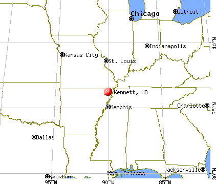 Kennett, Missouri map