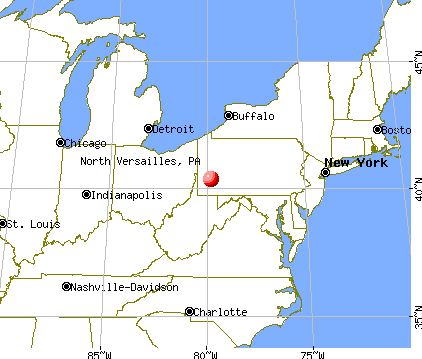 North Versailles, Pennsylvania map