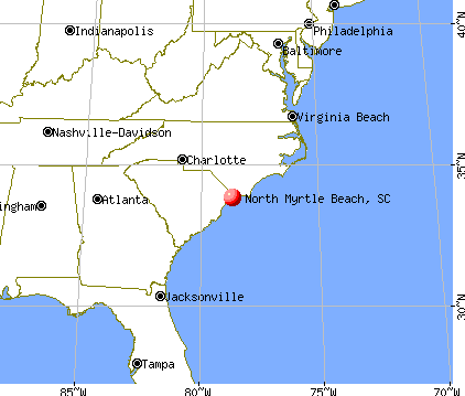 North Myrtle Beach, South Carolina map