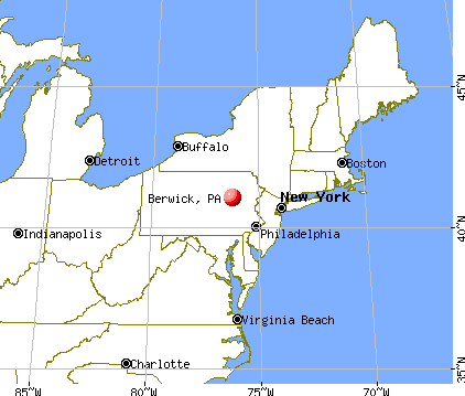 Berwick, Pennsylvania map