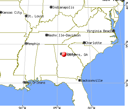 Conyers, Georgia map