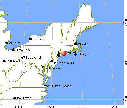 Terryville, New York map