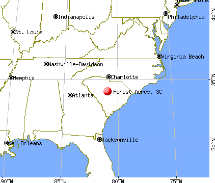 Forest Acres, South Carolina map