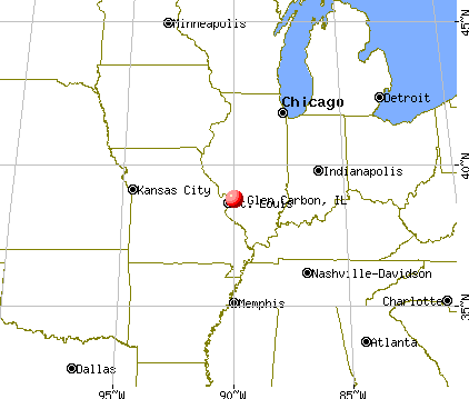 Glen Carbon, Illinois map