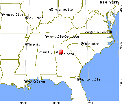 Roswell, Georgia map