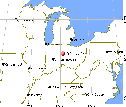 Celina, Ohio map