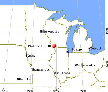 Platteville, Wisconsin map