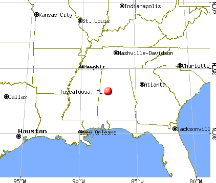 Tuscaloosa, Alabama map
