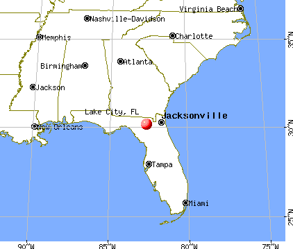 Lake City, Florida map