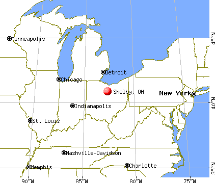 Shelby, Ohio map