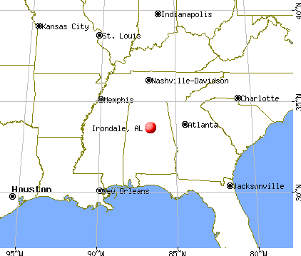 Irondale, Alabama map