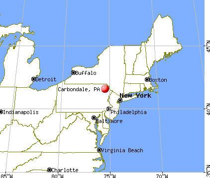 Carbondale, Pennsylvania map