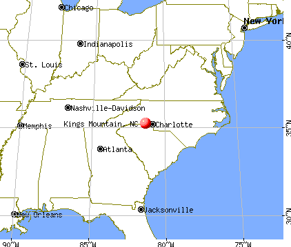 Kings Mountain, North Carolina map