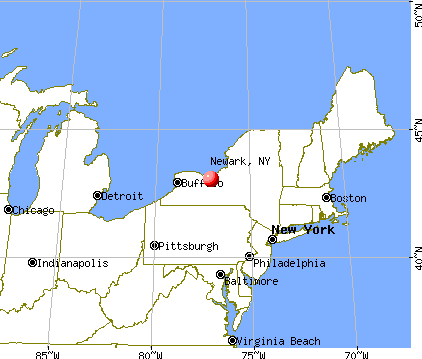 Newark, New York map