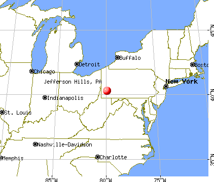 Jefferson Hills, Pennsylvania map