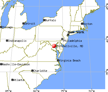 Mitchellville, Maryland map