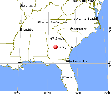 Perry, Georgia map