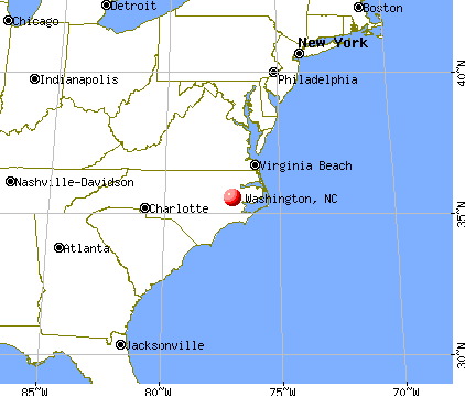 Washington, North Carolina map
