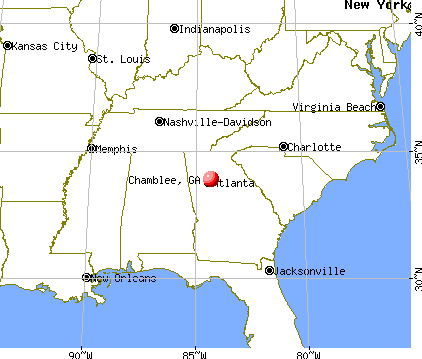 Chamblee, Georgia map