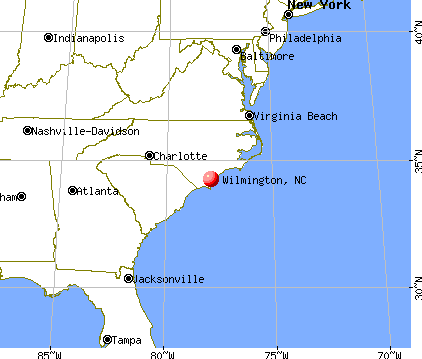 Wilmington, North Carolina map