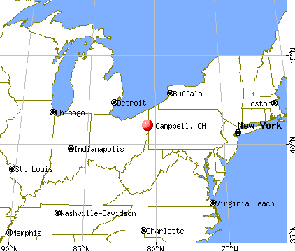 Campbell, Ohio map