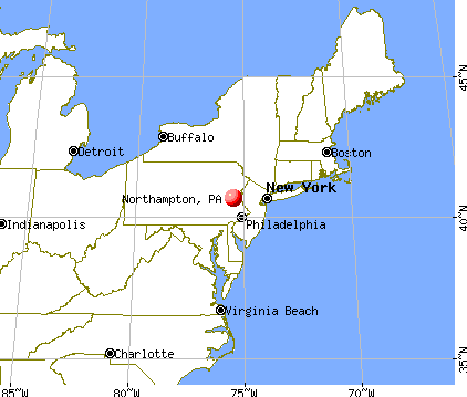 Northampton, Pennsylvania map