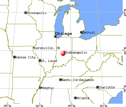Mooresville, Indiana map