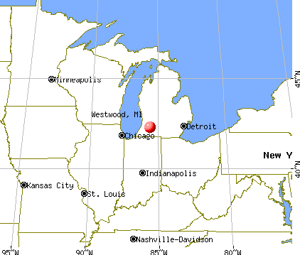 Westwood, Michigan map