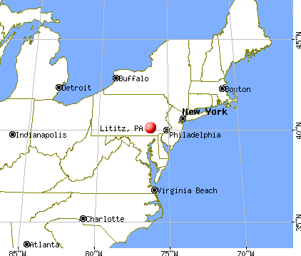 Lititz, Pennsylvania map