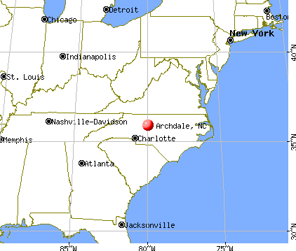 Archdale, North Carolina map