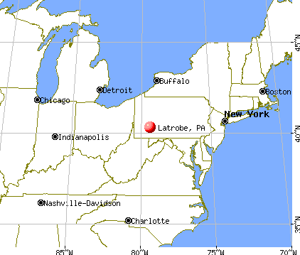 Latrobe, Pennsylvania map