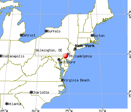 Wilmington, Delaware map